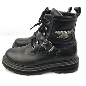 Harley Davidson Women's Black Leather Boots Size 7